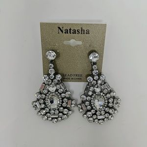 NWOT-Natasha Rhinestone Earrings